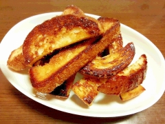 カリッカリ♪ パン耳のバターシュガー焼き☆