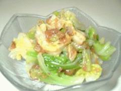 春キャベツと梅のサラダ