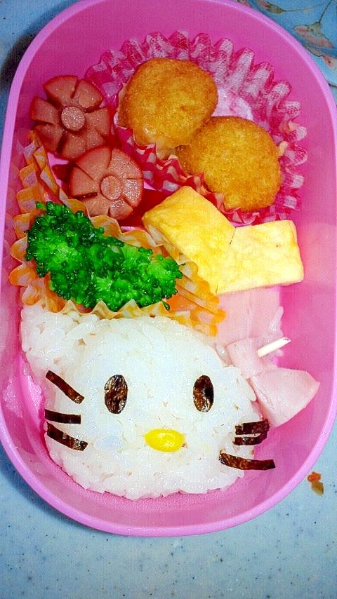 キティちゃん  簡単でかわいいお弁当