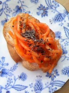 スパゲティ&ゴマ☆フランスパン