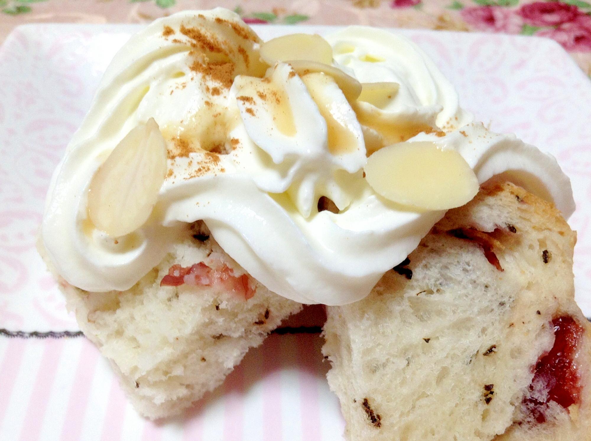 食パンでケーキ風オヤツ