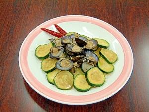 しじみと香味野菜の唐辛子炒め