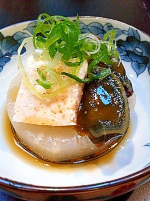 ジューシー大根のピータン豆腐