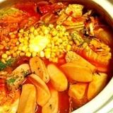 焼きキャベツで絶品トマト鍋