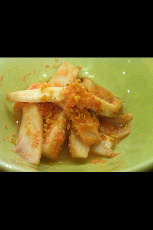 エリンギの明太バターソテー