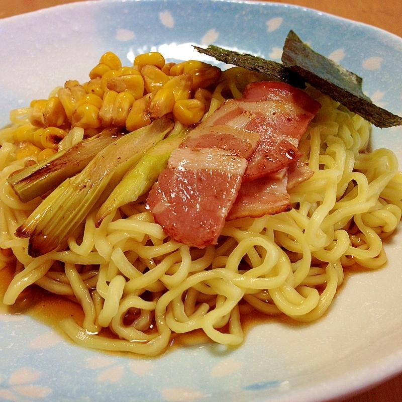 太麺中華麺でガッツリ冷し中華
