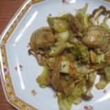 ホタテと野菜の塩麹炒め
