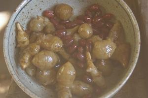 菊芋と小豆の再従兄弟煮