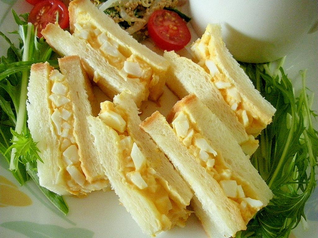 ☆ゆで卵のヨーグルトサンドイッチ☆