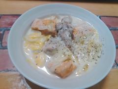 ★白菜が美味しい厚揚げと鶏のミルク煮★