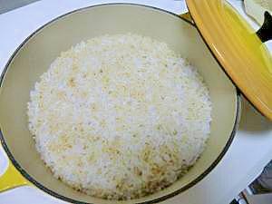 ルクルーゼで美味しい!玄米ご飯