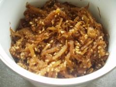 シロップの生姜で佃煮