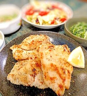 安・旨・簡単な主菜☆塩麹チキンカツ