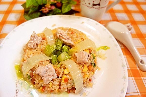 冷凍炒飯に一工夫!豚と白菜のあんかけ炒飯