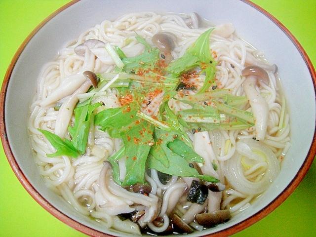松茸のお吸い物の素であったか温麺