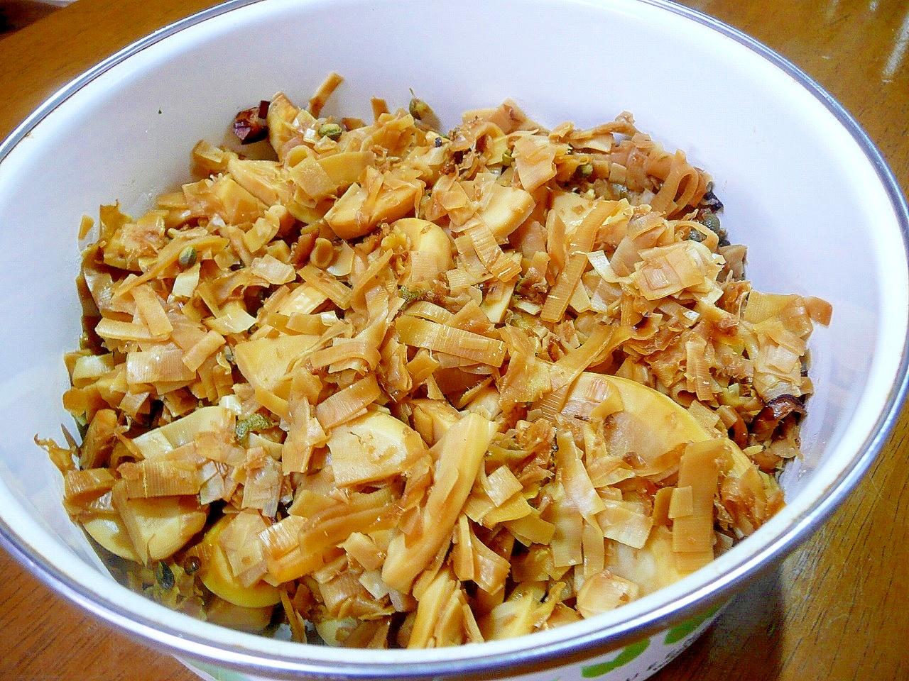 竹の子の穂先の佃煮山椒風味