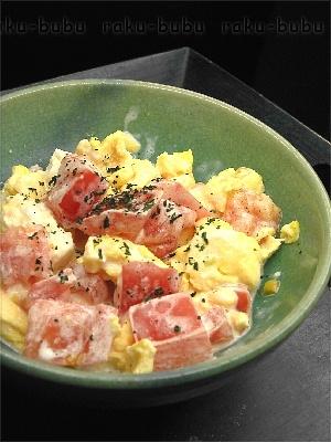 レンジでかんたん♪【トマトたまごサラダ】