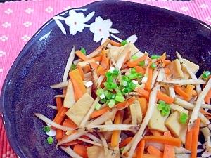 高野豆腐のきんぴら風炒め煮