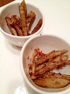 麺つゆで仕上げる☆ごぼうの副菜