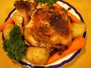 鶏の丸焼き ダッチオーブンを使って
