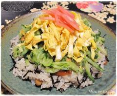 ひじきの煮物で簡単ちらし寿司