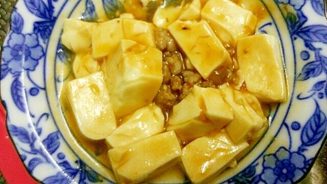 絹ごし豆腐の麻婆