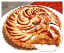 りんごがたっぷり!りんごの贅沢なタルトです。