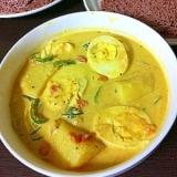 ☆スリランカ風ゆで卵とポテトのココナッツ・カレー☆