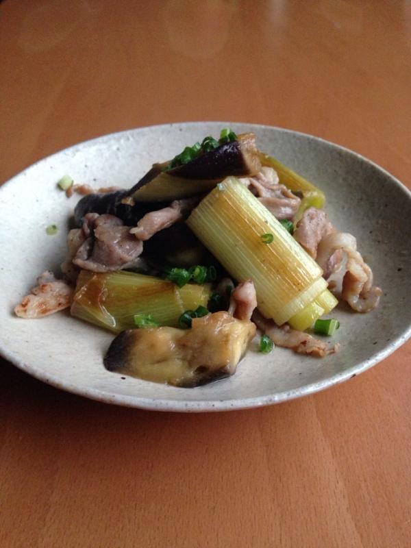豚こまとなすと白ねぎのバタぽん炒め♪ レシピ・作り方 by ちーたまちー|楽天レシピ