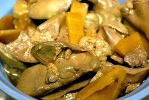 鶏もつ生姜煮 (鶏きも煮) 【常備菜・おつまみ】