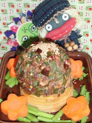 筍の肉詰め青椒肉絲風