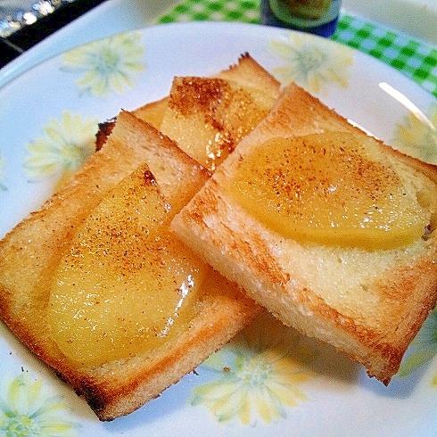 煮りんごで簡単おやつ&食パン