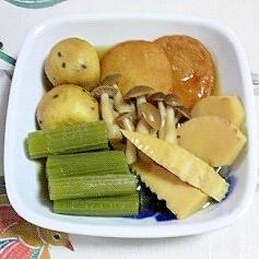 蕗と筍、さつま揚げの煮物~☆