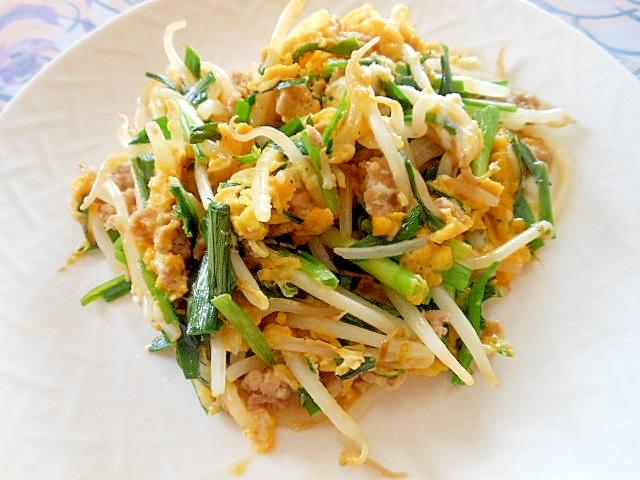 もう1品に挽肉、もやし、ニラ卵の塩麹炒め レシピ・作り方 by アルプスの乙女|楽天レシピ