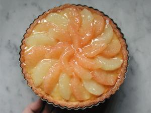 色鮮やか甘酸っぱい グレープフルーツのタルト