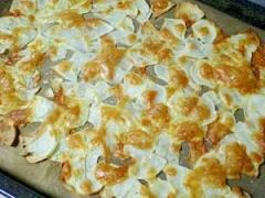オーブンで楽々ポテトチップス