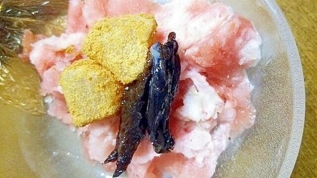 スイカかき氷、プルーンとわらび餅、ヨーグルトと