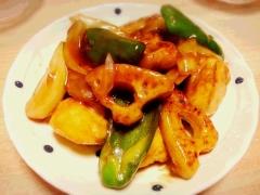 酢鶏風♪ 鶏むね肉とレンコンの甘酢炒め★