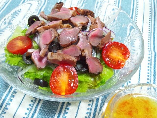 ふっくら砂肝のサラダ~かぼすドレッシング