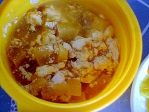 離乳食後期ёりんご煮と豆腐ときな粉の離乳食
