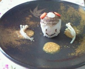 里芋の胡麻味噌添え*和風コドモダケ