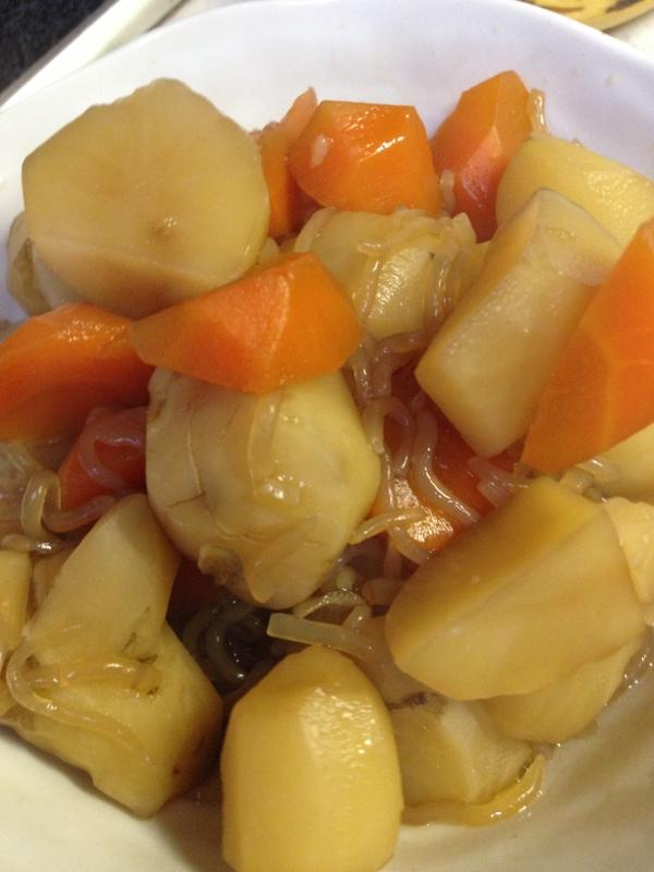 菊芋と人参の煮物
