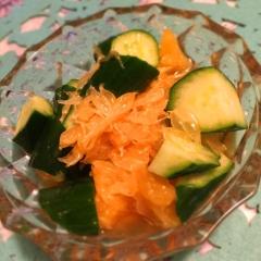 胡瓜の食べる甘夏ドレッシング和え