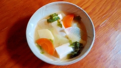 ★残り野菜と豆腐の塩こしょう?味噌汁★