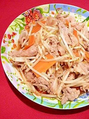 青森のたれ「スタミナ源」で☆豚肉ともやし炒め。