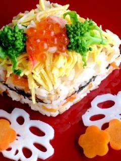 ひなまつりの菱形ちらし寿司