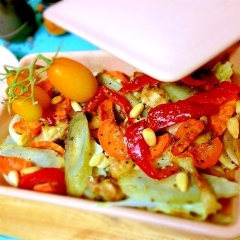 中華風、鶏肉と野菜の簡単オーブン焼き