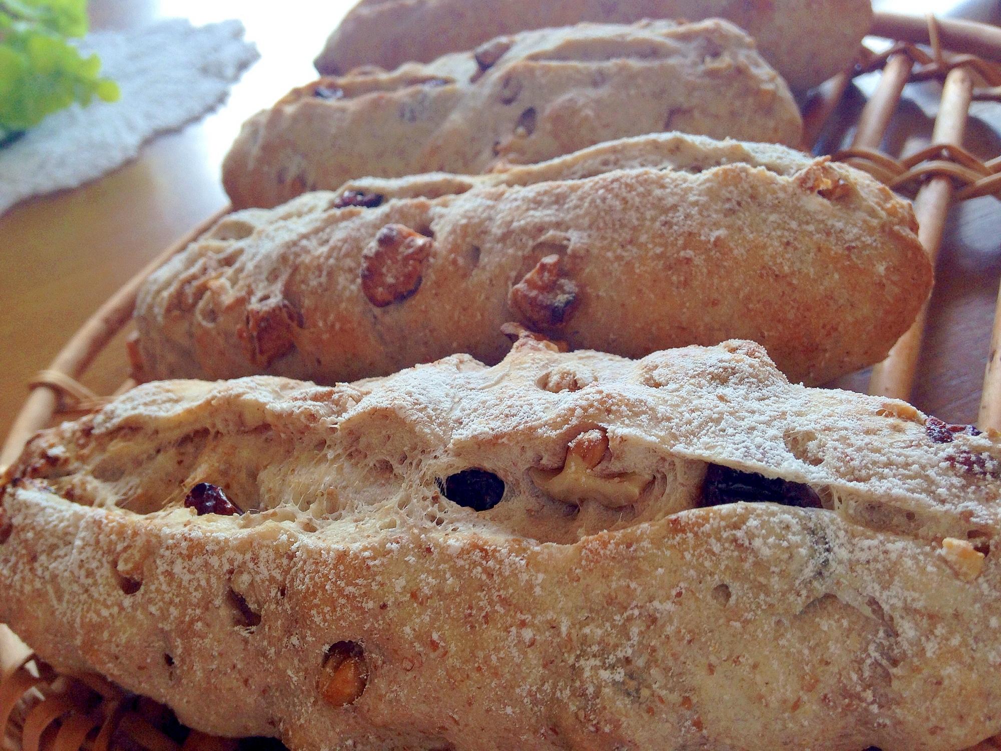 ライ麦のクランベリーくるみパン レシピ・作り方 by mamas cafe 123|楽天レシピ