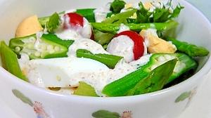 オクラ、夏野菜のサラダ