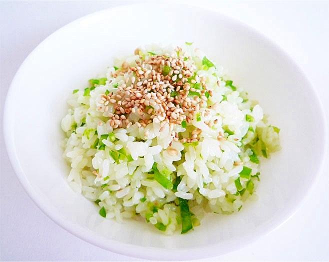 アンチエイジング&夏バテ防止 生ピーマンの混ぜご飯